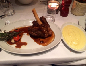 lamb chop and mashed potatoes